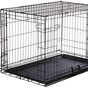 AmazonBasics Double-Door Folding Metal Dog Crate – Medium (36x23x25 Inches)