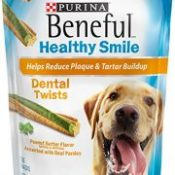 Beneful Healthy Smile Dental Dog Snacks, Large Twists, 8.4-Ounce Pouch, Pack of 1
