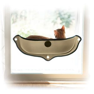 K&H Manufacturing EZ Mount Window Bed Kitty Sill, 27″ x 11″, Ta...