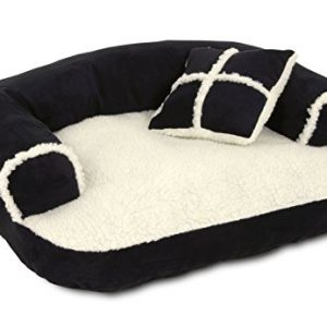 Petmate Aspen Pet Sofa Bed With Pillow, 20 X 16 Inches (Colors May Vary)