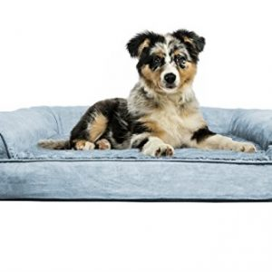 FurHaven Medium Plush & Suede Orthopedic Sofa Pet Bed for Dogs and Cats, De...