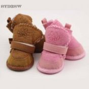 SYDZSW Classic Pet Shoes for Dogs Cats Winter Small Dog Anti-slip Boots Yorkshire Snow Boots Chihuahua Supplies Pet Products