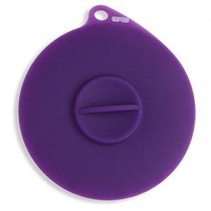 Dexas  Flexible Suction Pet Food Lid, Gray/Purple