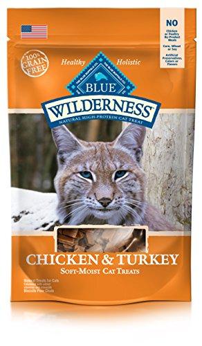BLUE Wilderness Grain-Free Soft--Moist Chicken & Turkey Recipe Cat Treats 2-oz